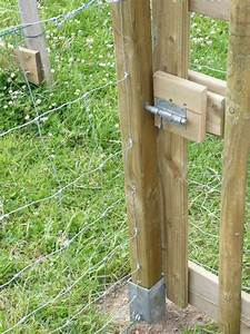 Comment Fixer Un Poteau Bois Au Sol : poteaux grillage ~ Dailycaller-alerts.com Idées de Décoration