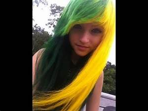 Dying hair Yellow & Green