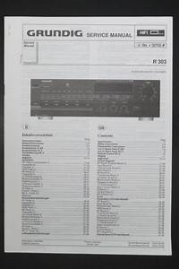 Grundig Receiver R 303 Original Service Manual  Guide