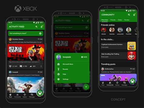 xbox app redesign  patrik kvapilik  dribbble