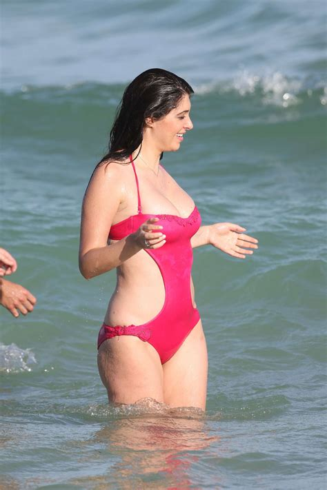 lauraharring swimsuit brittny gastineau in red swimsuit 01 gotceleb