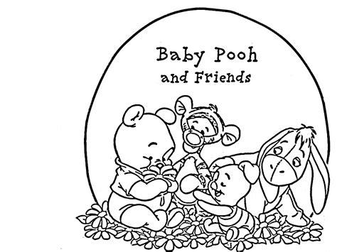 Kleurplaat Winnie The Pooh Baby by Winnie The Pooh Kleuteridee