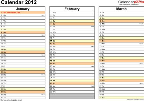 excel calendar  uk  printable templates xlsx