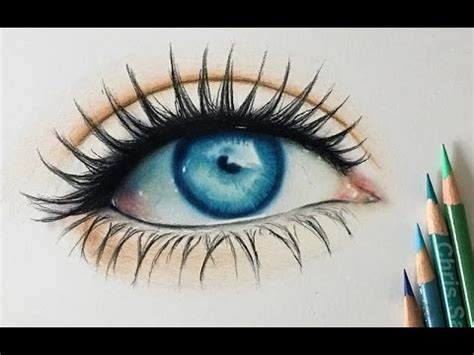 draw  realistic colored eye youtube