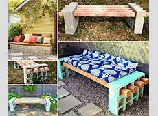Wonderful DIY Cinder Block Bench