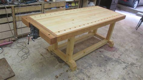 easy sturdy solid  cheap workbench  muhammad