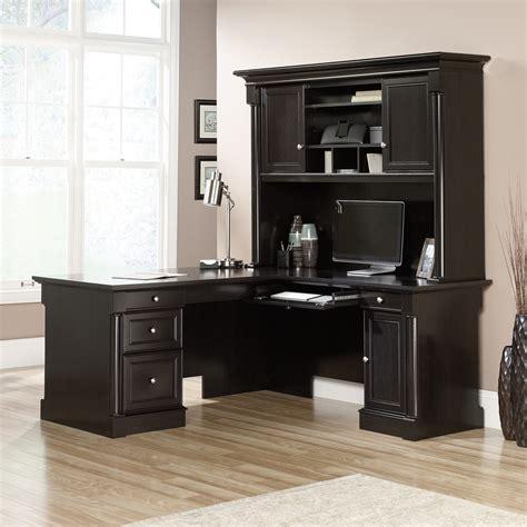 sauder storage cabinet with palladia l desk with hutch ps1122 sauder