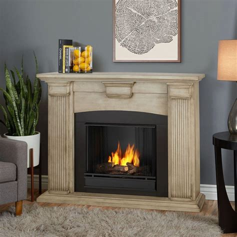 real flame adelaide   ventless gel fireplace  dry