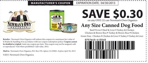 promo cuisine newans own organics canned food coupon print