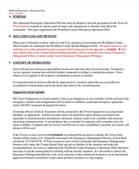 Emergency Operation Plan Template by Beautiful Emergency Operations Plan Template Pictures