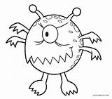 Monster Coloring Printable sketch template