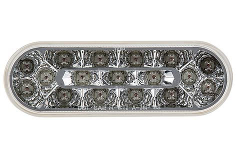 clear led trailer tail lights oval led truck lights and trailer lights with clear lens