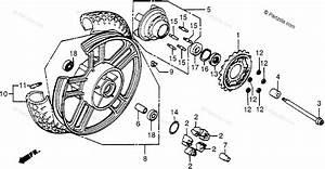Honda Motorcycle 1984 Oem Parts Diagram For Rear Wheel