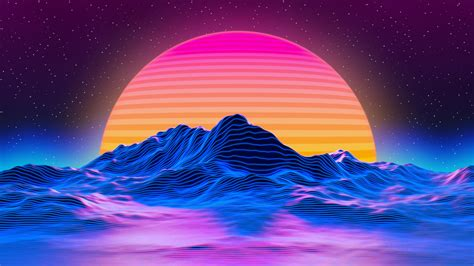 retro sunset wallpapers wallpaper cave