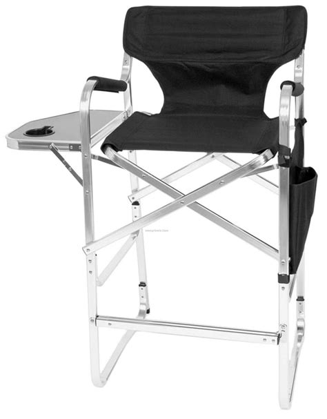 imported bar height aluminum director chair with side