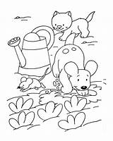 Coloring Farm Pages Dog Cat Dogs Mouse Cats Animals Drawing Adults Printable Kittens Children Animal Mouses Incredible Getcolorings Adult Justcolor sketch template