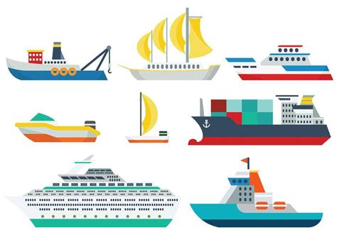 Tugboat Vector Question by Ship Icons Vector Free Vector Stock