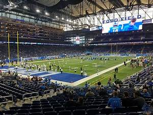 Ford Field Seating Chart Concert Ford Field Section 120 Detroit Lions Rateyourseats Com