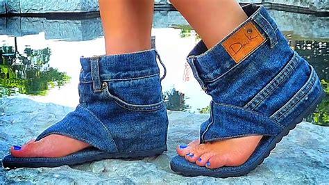 Designer Creates Cool Jean Sandal Boots