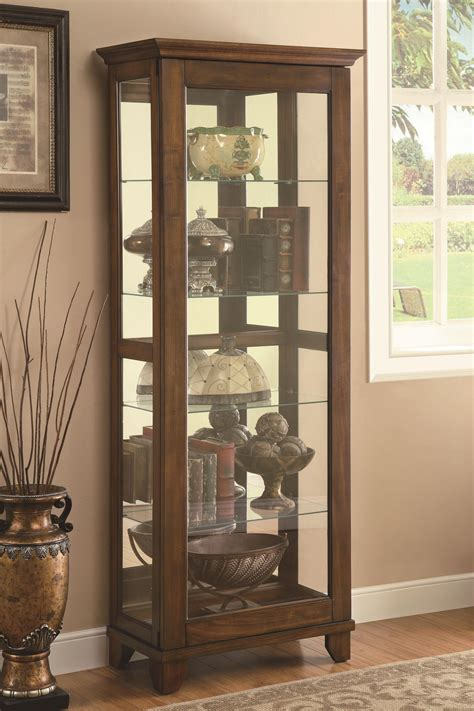 Coaster Curio Cabinet Assembly by Coaster Curio Cabinets 5 Shelf Curio Cabinet With Warm