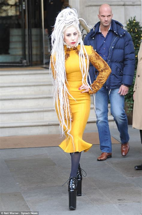 Lady Gaga Flaunts A New Look With White Dreadlocks And A