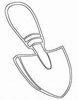 Shovel sketch template