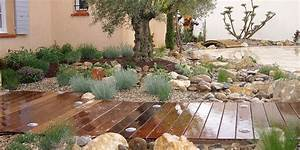 awesome image creation jardin gallery awesome interior With amenagement jardin exterieur mediterraneen 5 creation jardin mediterraneen idee deco petit jardin
