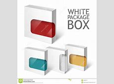 Set Of White Package Box Mockup Template Stock Vector