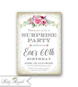 Adult Surprise Birthday Invitations, Women's 60th Birthday Invitations, Surprise Birthday Party for Adults, Milestone Any Age, Printable