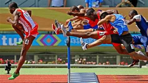 TOP 10 Men's 110m Hurdles Sprints of all time HD - YouTube