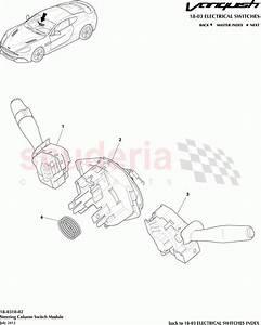 Aston Martin Vanquish  2012   Steering Column Switch