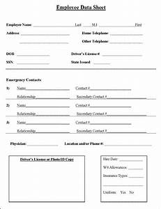 employee information sheet business cleaning business With new employee information template