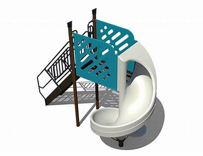 Slide Spiral Open Freestanding Playground Playgrounds