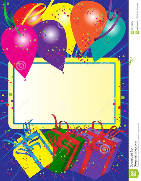 Birthday Card Photo by Happy Birthday Card Stock Vector Illustration Of Card