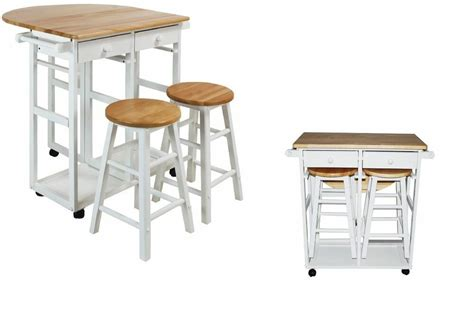 Portable Breakfast Bar Table Kitchen Cart Island Stools by Kitchen Island Table Wood Set Cart Portable Rolling Bar
