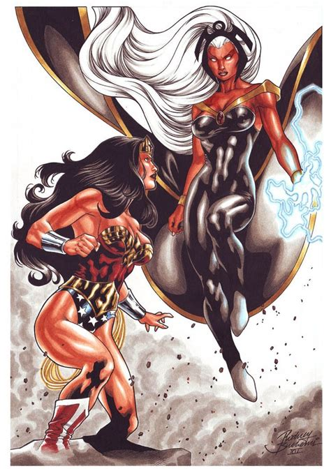 The longer the fight goes on the more it favors moro since passive life energy drain would do midora in. Image result for villains vs storm | Wonder woman, Superhero, Comic book characters