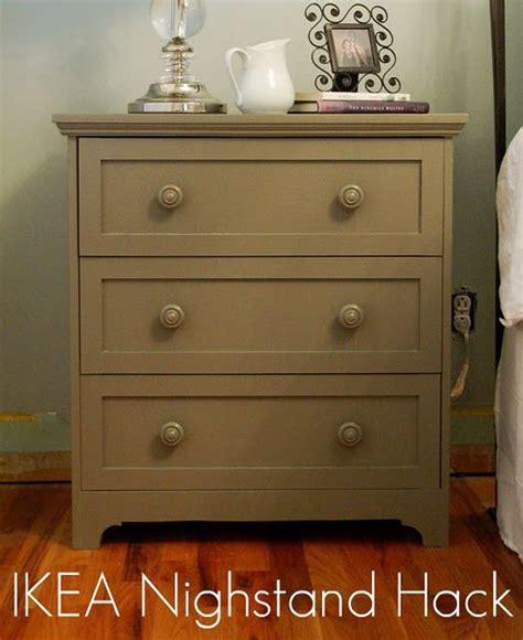 ikea hack nightstand ideas  pinterest ikea  drawer dresser white gold nightstand