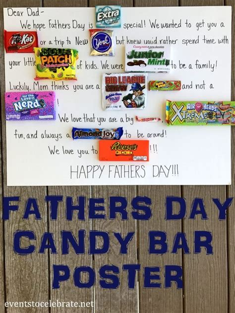fathers day candy bar poster homemade fathers day gifts