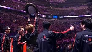 Fascinating Shot Of The TI4 Winner Taking The Trophy DotA2