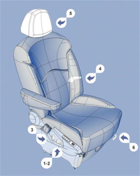 siege c8 neuf manuel du conducteur peugeot 807 sièges avant à réglage électrique sièges ergonomie et