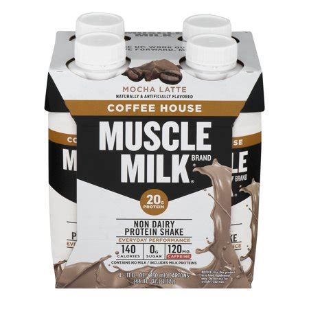 Muscle milk provides products that amplify your lifestyle and help you become stronger everyday. Muscle Milk Coffee House Non-Dairy Protein Shake, Mocha Latte, Ready to Drink, 11 fl Ounce, 4 ...