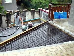 Faire Une Terrasse En Dalle : extension d 39 une dalle ext rieure youtube ~ Voncanada.com Idées de Décoration