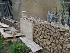 Construction En Pierre : construction d un mur en pierres et mortier de chaux ~ Premium-room.com Idées de Décoration