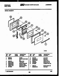 Frigidaire Rg94bfb1 Electric Wall Oven Parts
