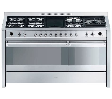 smeg gas range cooker buy smeg opera 150 dual fuel range cooker stainless