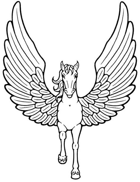 unicorn  wings flying coloring pages coloring pages pinterest coloring pegasus
