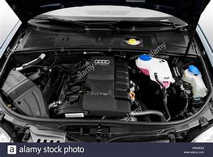 2008 Audi A4 2 0t In Blue - Engine Stock Photo  16075887