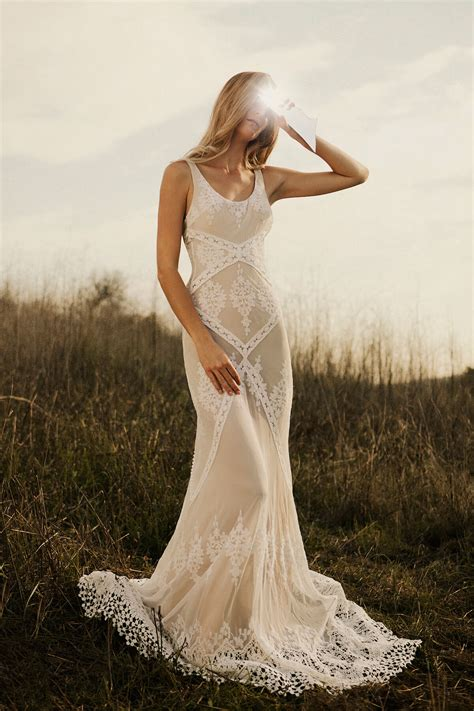 Cecilia Bohemian Lace Wedding Dress Dreamers And Lovers