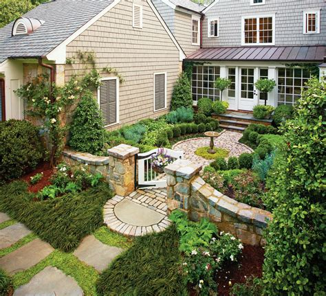 cottage garden courtyard garden design pinterest