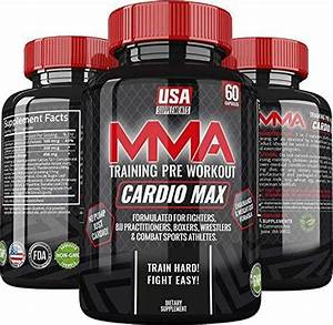 Cardio Max Pre Workout Capsules Energy Pills Nootropic Brain Booster Workout Supplements For Men